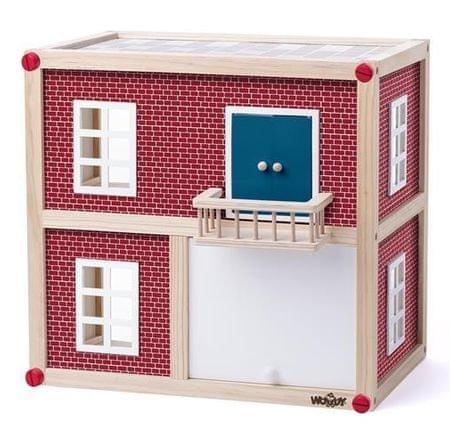 Woody domek dla lalek - szeregówka
