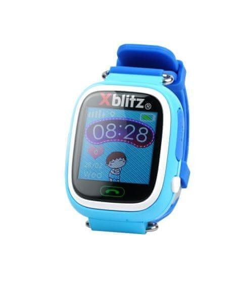 XBlitz Interaktivní dětské chytré hodinky s WiFi a GPS lokátorem, Love Me, modrá barva