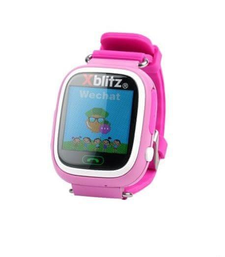 3f9ea6d8a XBlitz Interaktivní dětské chytré hodinky s WiFi a GPS lokátorem, Love Me,  růžová barva