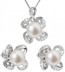 Evolution Group Luxusní stříbrná souprava s pravými perlami Pavona 29016.1 stříbro 925/1000