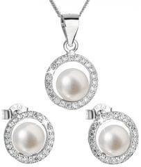 Evolution Group Luxusná strieborná súprava s pravými perlami Pavona 29023.1 striebro 925/1000