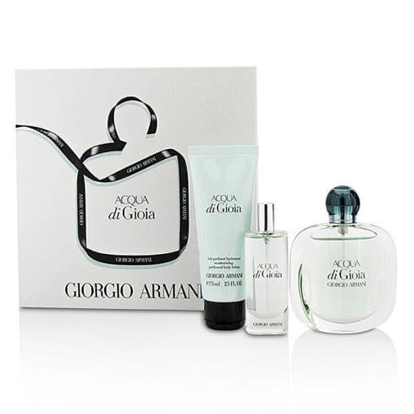 Giorgio Armani Acqua Di Gioia - EDP 50 ml + EDP 15 ml + tělové mléko 75 ml