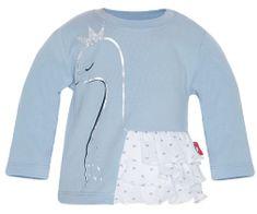 2be3 Dívčí tričko s labutí a volánky