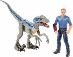 Mattel Jurski svijet iz tornja - Velociraptor Blue i Owen