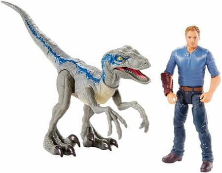Mattel Jurajski Świat - Velociraptor Blue a Owen