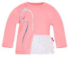 2be3 Dívčí tričko s labutí s volánky