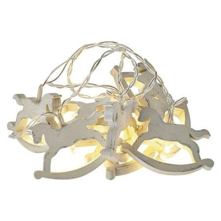 EMOS LED girlanda – kone, 2×AA, teplá biela, časovač