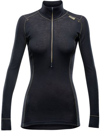 Devold Wool Mesh Woman Half Zip Neck Black XS