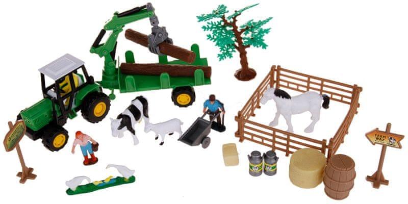 Alltoys Farmářský set v kufříku - vlek na dřevo