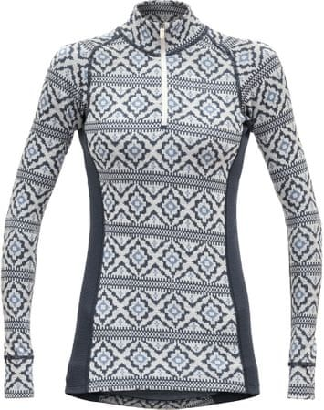 Devold ženska majica Ona Woman Half Zip Neck Night, XS