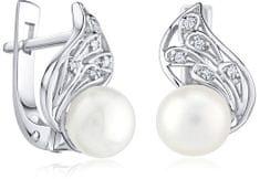 Silvego Stříbrné náušnice Genevie s pravými perlami FNJE0778-PR stříbro 925/1000