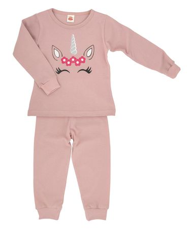 Makoma piżama dziewczęca Unicorn 86 różowa