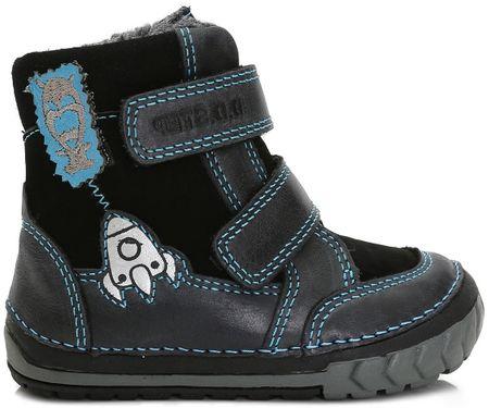 D-D-step Chłopięce buty zimowe z rakietą 19 ciemnoniebieski