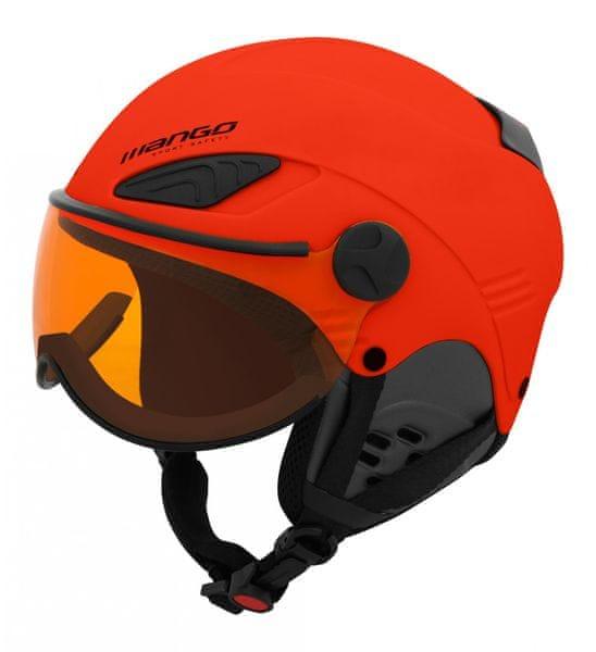 Mango Přilba Rock Pro Oranžová Mat 53-55