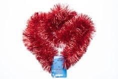 Seizis Vánoční dekorační řetězy 4 ks, červené