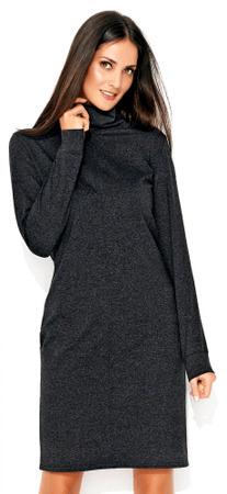 Numinou ženska obleka, 36, temno siva