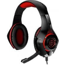 Tracer Gaming slušalke z mikrofonom Battle Heroes Gunman, rdeče