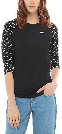 Vans Dámske tričko Sundaze Raglan Black / Sundaze Flora l VA3PE5YGQ (Veľkosť S)