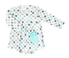 Makoma dívčí body/šaty Mint Dots