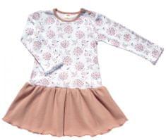 Makoma dívčí body/šaty Flowers