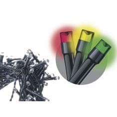 Emos 100 LED řetěz, 10 m, studená bílá/multicolor, programy