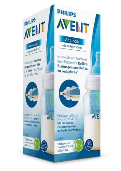 Philips Avent Anti-colic cumisüveg, 260 ml AirFree-vel, 1 db