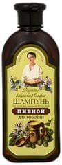 Babushka Agafia Šampon na vlasy s pivním droždím a mydlicí pro muže 350 ml