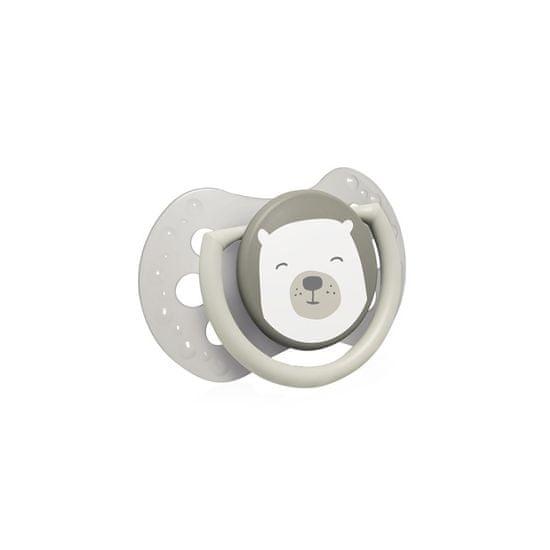 LOVI Dudlík silikonový dynamický LOVI BUDDY BEAR 6-18m 2ks