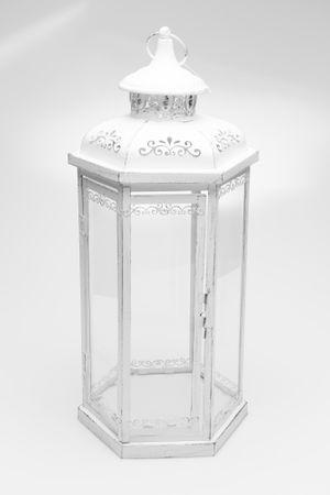 Seizis Vánoční lucerna šestiúhelník bílá, velká - rozbaleno