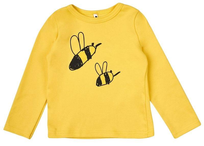 Garnamama Dětské tričko se včelkou 68 žlutá 96a34a7bce