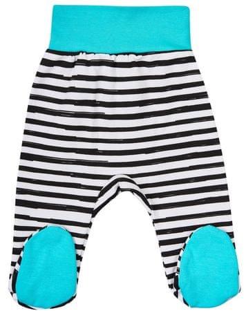 Garnamama fantovske hlače s črtami in modrimi copati, 56, modro bele