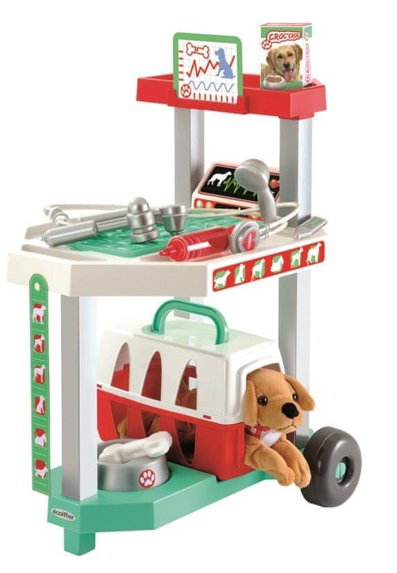Ecoiffier Vozík pro veterináře s pejskem