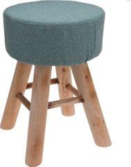 Mørtens Furniture Taburetka s dřevěnými nohami Limpa, 30 cm, zelená