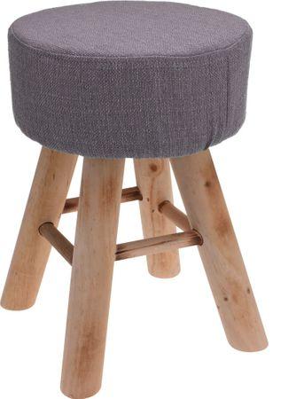 Mørtens Furniture Taburetka s dřevěnými nohami Limpa, 30 cm, šedá