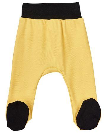Garnamama otroške hlače s črnimi copati, 62, rumene