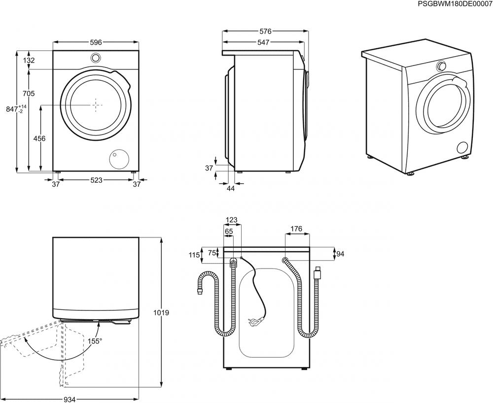 Electrolux pračka se sušičkou PerfectCare 700 EW7W4684W