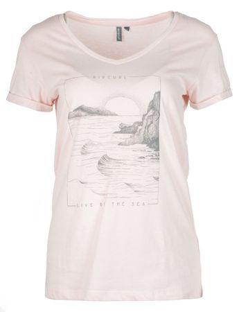 Rip Curl dámské tričko By The Sea S svetlo ružová