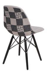 Mørtens Furniture Jídelní židle s černou podnoží Desire patchwork