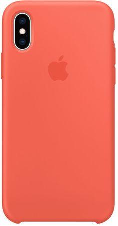 Apple silikonový kryt na iPhone XS, nektarinkový MTFA2ZM/A