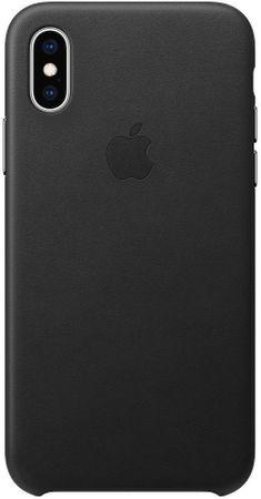 Apple ovitek MRWM2ZM/A za telefon iPhone XS, usnjen, črn