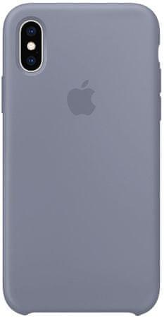 Apple silikónový kryt na iPhone XS, levanduľovo sivá MTFC2ZM / A