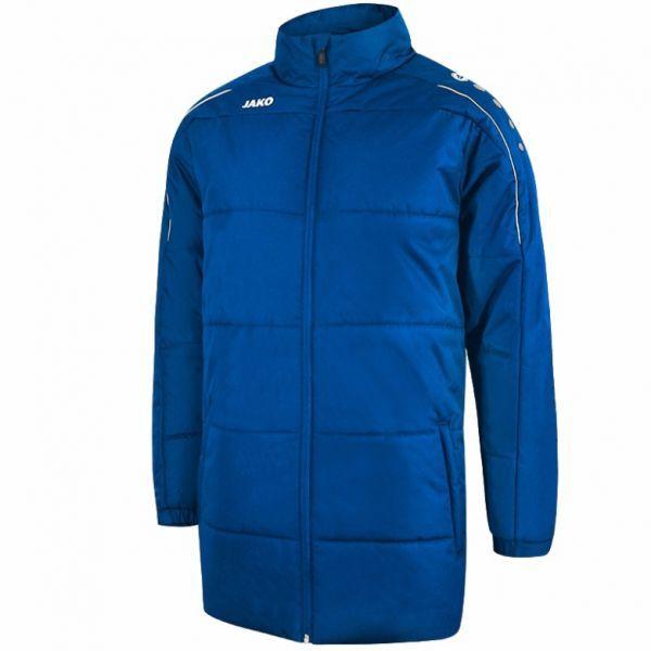 JAKO CLASSICO zimní bunda bez kapuce vel. XL, královská modrá