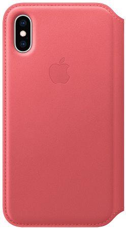 Apple ovitek Folio MRX12ZM/A za telefon iPhone XS, usnjen, roza