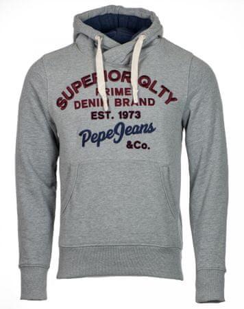 Pepe Jeans pánská mikina Whesley XL šedá  027b28acd7
