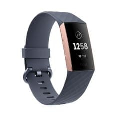 Fitbit aktivna zapestnica Charge 3, Rose Gold/Blue Grey