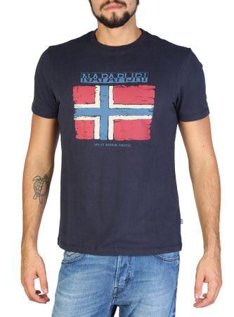 Napapijri pánské tričko M tmavo modrá  31e5942a6ea