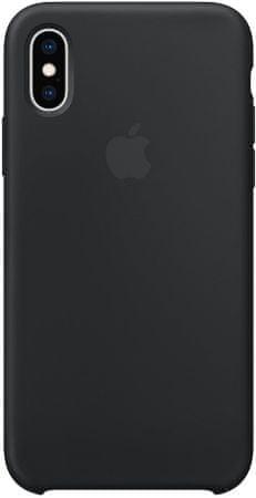 Apple silikonový kryt na iPhone XS, čierna MRW72ZM/A