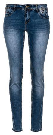 Desigual jeansy damskie Refriposas 27 niebieski