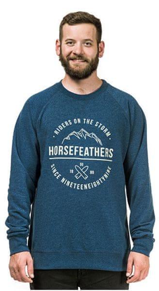 Horsefeathers Pánská mikina Timothy Heather Navy SM818D (Velikost L)