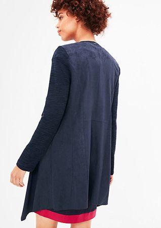 s.Oliver Dámský modrý kabát ve stylu blejzru (Velikost 36)  1b549c04672